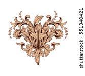 vintage baroque ornament retro... | Shutterstock .eps vector #551340421