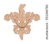 vintage baroque ornament retro... | Shutterstock .eps vector #551340781