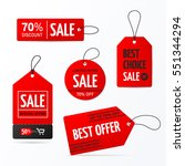 set of sale tags with text  ... | Shutterstock .eps vector #551344294