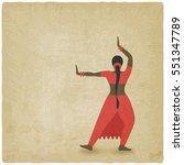 Indian Dancer Old Background....