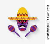 concept for day of the dead.... | Shutterstock . vector #551347945