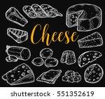 cheese organic milk butter...   Shutterstock .eps vector #551352619