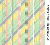 seamless vector geometrical... | Shutterstock .eps vector #551356039