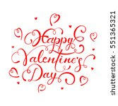 red lettering happy valentines...   Shutterstock .eps vector #551365321