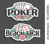 vector logo poker and black... | Shutterstock .eps vector #551368081