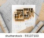 3d plan drawing | Shutterstock . vector #55137103