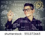 smart guy writing high school...   Shutterstock . vector #551372665