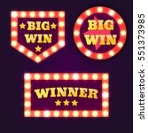 big win banners collection with ... | Shutterstock .eps vector #551373985