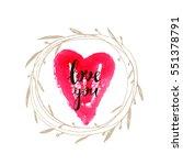 handrawn romantic lettering... | Shutterstock .eps vector #551378791