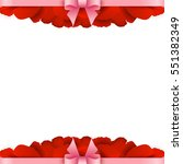 rose petals border on white... | Shutterstock .eps vector #551382349