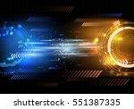 sci fi futuristic user... | Shutterstock .eps vector #551387335