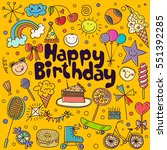 poster for the birthday... | Shutterstock .eps vector #551392285