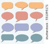 speech bubble. dream cloud.... | Shutterstock .eps vector #551395171