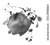 abstract watercolor grayscale... | Shutterstock .eps vector #551398864