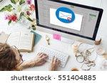 e mail popup warning window... | Shutterstock . vector #551404885