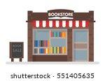 bookstore front vector... | Shutterstock .eps vector #551405635