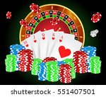 vector illustration on a casino ... | Shutterstock .eps vector #551407501