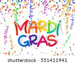 mardi gras vector colorful... | Shutterstock .eps vector #551411941