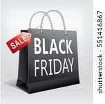 black friday sale  gift bag... | Shutterstock .eps vector #551416867