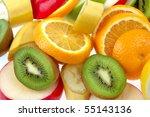 mixed of fresh fruits   Shutterstock . vector #55143136