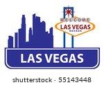 las vegas skyline   Shutterstock .eps vector #55143448