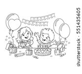 coloring page outline of... | Shutterstock .eps vector #551435605