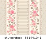 seamless pattern with laces ... | Shutterstock .eps vector #551441041