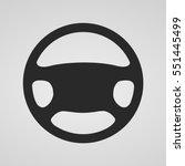steering wheel icon isolated