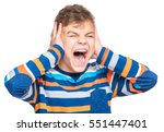 i can not hear anything  ... | Shutterstock . vector #551447401