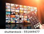 multimedia video wall... | Shutterstock . vector #551449477