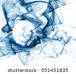 abstract fractal on a white... | Shutterstock . vector #551451835