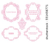 set collection of baroque... | Shutterstock .eps vector #551458771