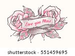 i love you. happy valentine... | Shutterstock .eps vector #551459695