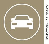 car  icon   isolated. flat ... | Shutterstock .eps vector #551465599