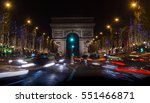 champs elysees in paris... | Shutterstock . vector #551466871