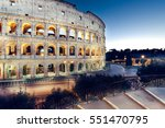 night view of colosseum  rome ... | Shutterstock . vector #551470795
