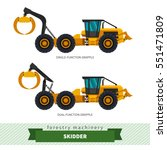 grapple skidder forestry... | Shutterstock .eps vector #551471809