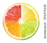 citrus fruit. collage of orange ... | Shutterstock . vector #551473135