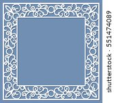 square frame with lace border... | Shutterstock .eps vector #551474089