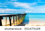 jetty to the blue way to...   Shutterstock . vector #551475109