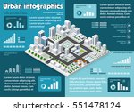 city isometric infographics... | Shutterstock .eps vector #551478124