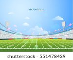 american football field with... | Shutterstock .eps vector #551478439