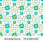 floral seamless pattern.... | Shutterstock .eps vector #551480185