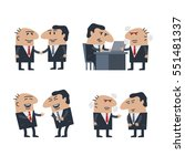 doodle business man and boss... | Shutterstock .eps vector #551481337