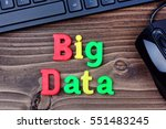 big data words on wooden table | Shutterstock . vector #551483245