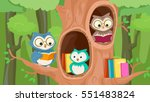 mascot illustration featuring a ... | Shutterstock .eps vector #551483824
