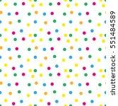 festive confetti seamless... | Shutterstock .eps vector #551484589
