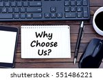 question why choose us on... | Shutterstock . vector #551486221