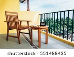 a chair on balcony of the... | Shutterstock . vector #551488435
