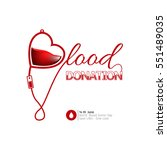 colored blood donation graphic...   Shutterstock .eps vector #551489035